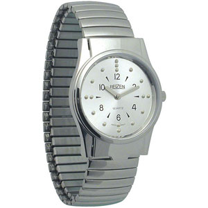 Men's Braille Watches Chrome/Gold Finish 6 O'Clock