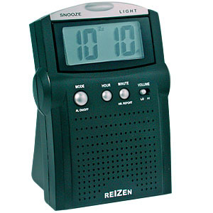 Reizen Traveler's LCD Talking Alarm Clock