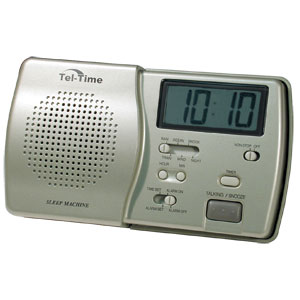 Sleep Machine with Tel-Time Talking LCD Clock