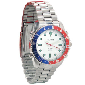 Men's Chrome Talking Watch