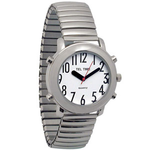 Tel-Time Talking Watch with White Dial