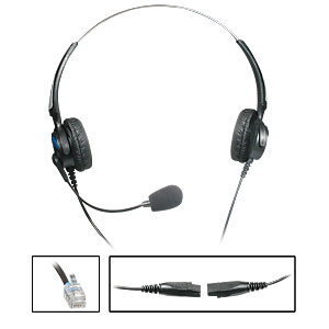 Reizen RE-97LD/QD Deluxe Binaural Headset with Bus