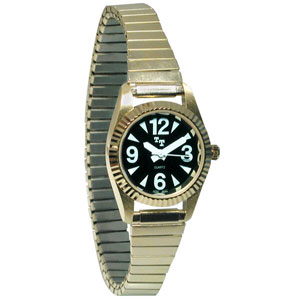 Ladies Tel-Time Low Vision Watch - Gold
