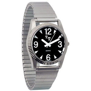 Mens Tel-Time Low Vision Watch - Chrome