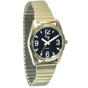 Mens Tel-Time Low Vision Watch - Gold